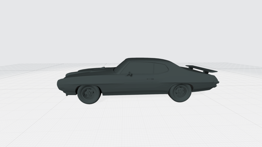 3D PRINTING MODEL OF PONTIAC GTO 1970 CAR STL FILE 3D Print 256755