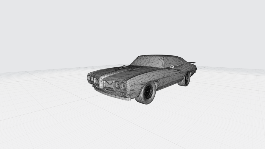 3D PRINTING MODEL OF PONTIAC GTO 1970 CAR STL FILE 3D Print 256756