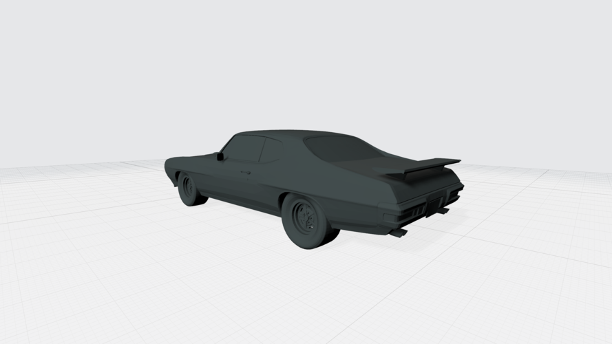 3D PRINTING MODEL OF PONTIAC GTO 1970 CAR STL FILE 3D Print 256757