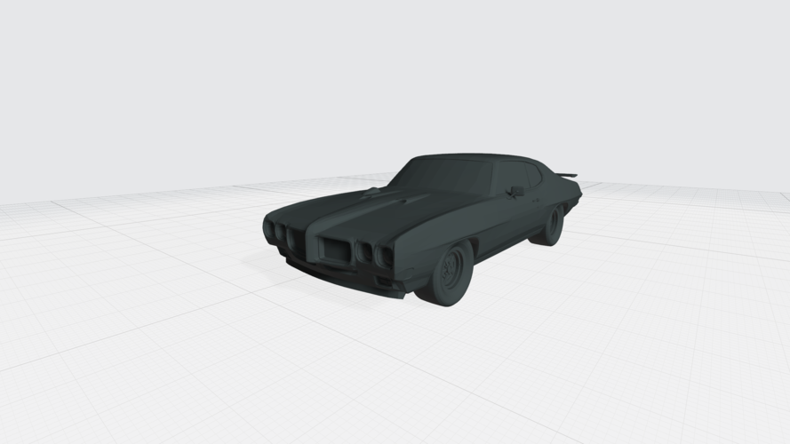 3D PRINTING MODEL OF PONTIAC GTO 1970 CAR STL FILE 3D Print 256758