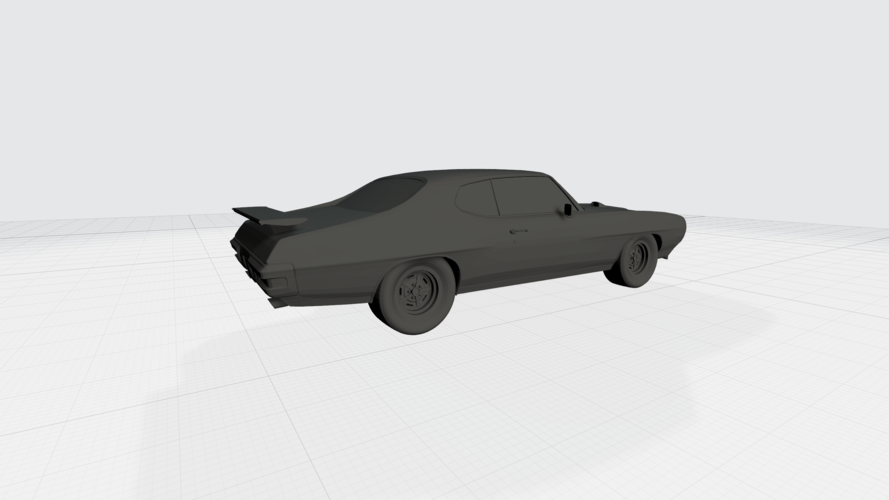 3D PRINTING MODEL OF PONTIAC GTO 1970 CAR STL FILE 3D Print 256759