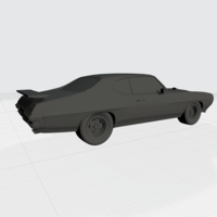 Small 3D PRINTING MODEL OF PONTIAC GTO 1970 CAR STL FILE 3D Printing 256759