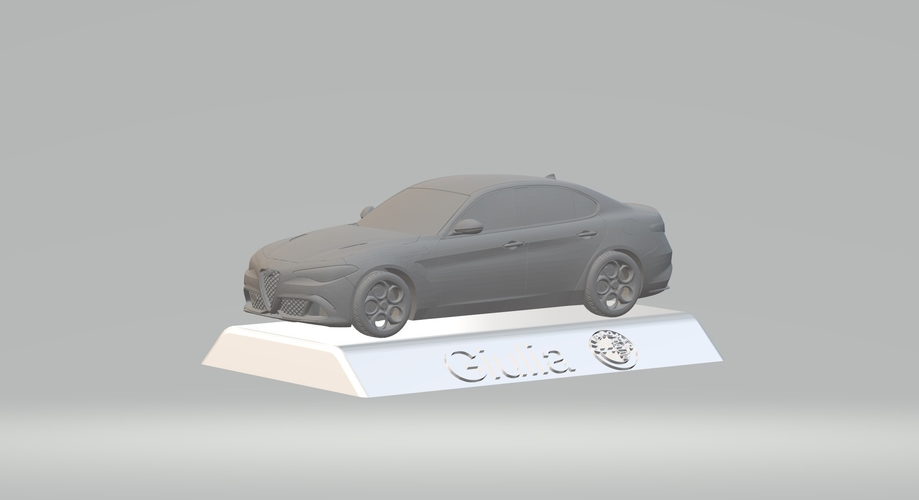 ALFA ROMEO GIULIA 3D CAR MODEL HIGH QUALITY 3D PRINTING STL FILE 3D Print 256764