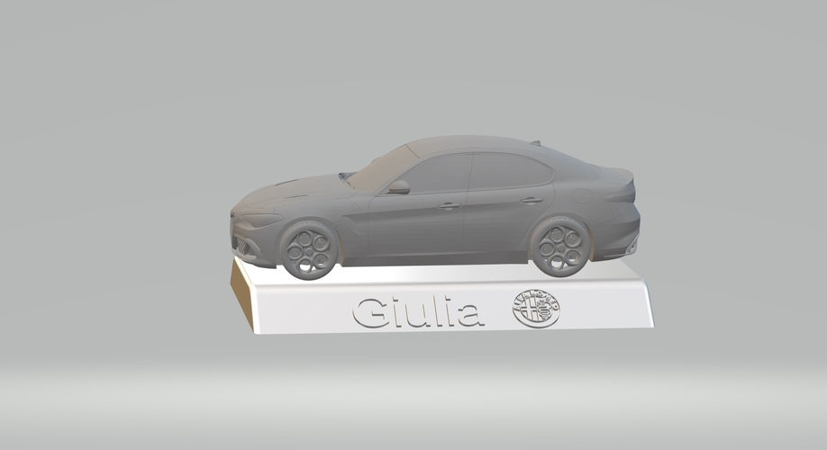 ALFA ROMEO GIULIA 3D CAR MODEL HIGH QUALITY 3D PRINTING STL FILE 3D Print 256765