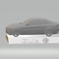 Small ALFA ROMEO GIULIA 3D CAR MODEL HIGH QUALITY 3D PRINTING STL FILE 3D Printing 256765