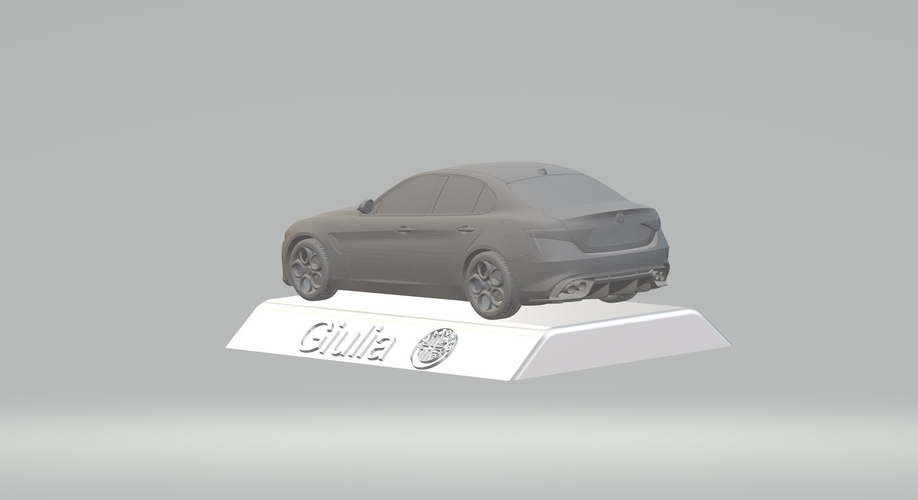 ALFA ROMEO GIULIA 3D CAR MODEL HIGH QUALITY 3D PRINTING STL FILE 3D Print 256766