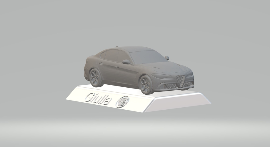 ALFA ROMEO GIULIA 3D CAR MODEL HIGH QUALITY 3D PRINTING STL FILE 3D Print 256767
