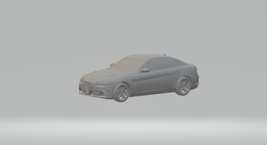 ALFA ROMEO GIULIA 3D CAR MODEL HIGH QUALITY 3D PRINTING STL FILE 3D Print 256768