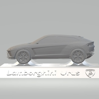 Small LAMBORGHINI URUS 3D CAR MODEL HIGH QUALITY 3D PRINTING STL FILE 3D Printing 256789