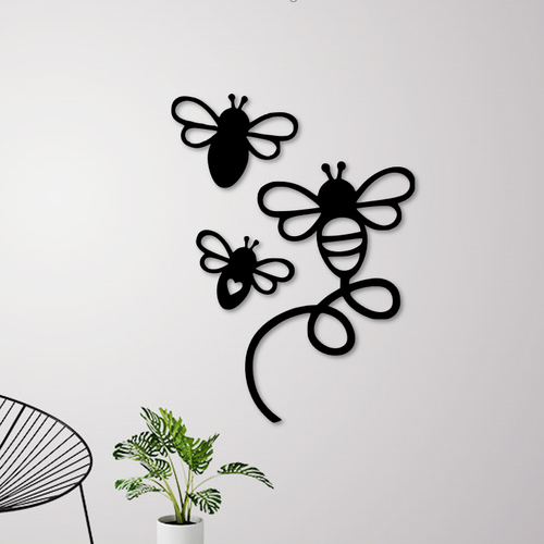 FLYING BEES WALL DECORATION 3D Print 256833