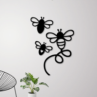Small FLYING BEES WALL DECORATION 3D Printing 256833