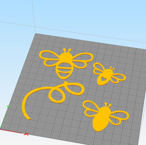 FLYING BEES WALL DECORATION 3D Print 256834