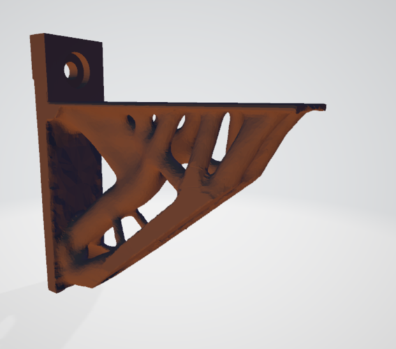organic shelf bracket 3D Print 256835