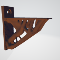 Small organic shelf bracket 3D Printing 256835