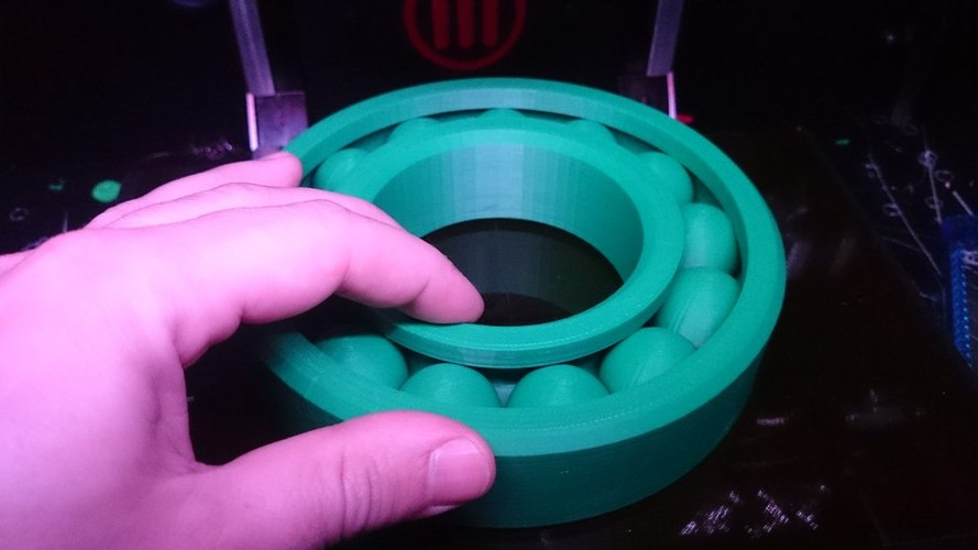 "Large ""Print-in-place"" Ball Bearing (Ø145mm) 3D Print 25685"