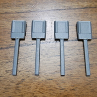 Small New pin design for Custom CAD Candle centering tool 3D Printing 256934