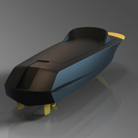 Small RC BOAT TWIN MOTOR RIVA 3D Printing 256973