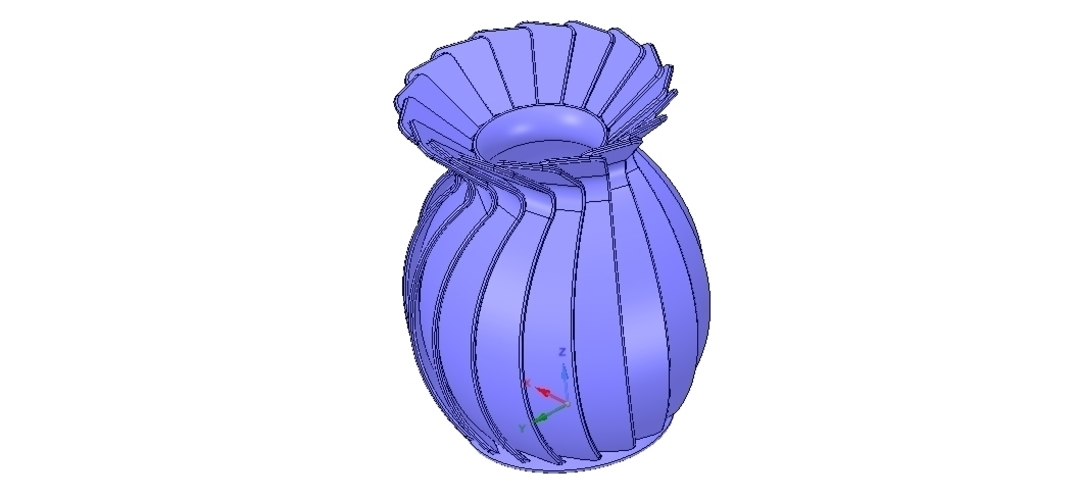 original origami flower vase vo01 for 3d-print or cnc 3D Print 257019