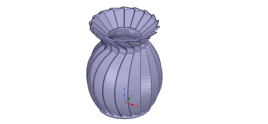 original origami flower vase vo01 for 3d-print or cnc 3D Print 257025