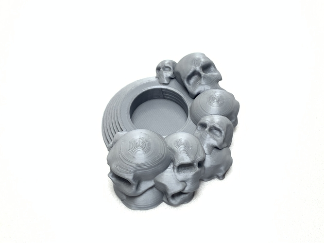 Skull tealight holder  3D Print 257045