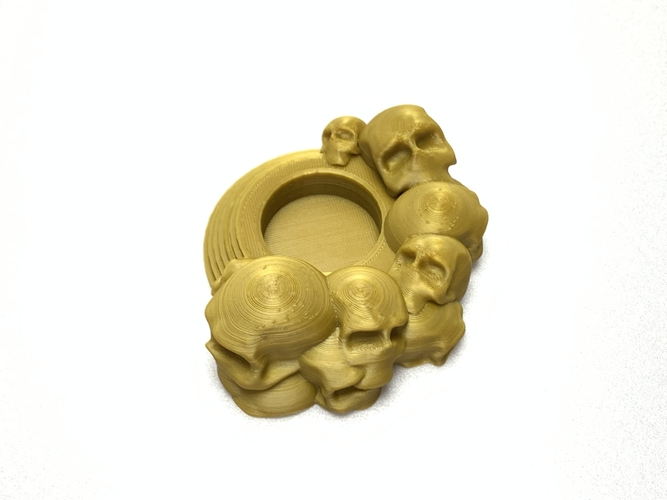 Skull tealight holder  3D Print 257046