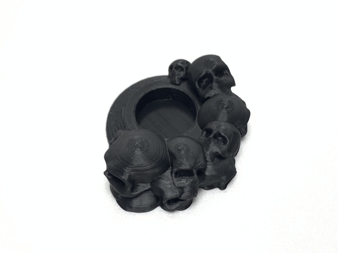Skull tealight holder  3D Print 257047