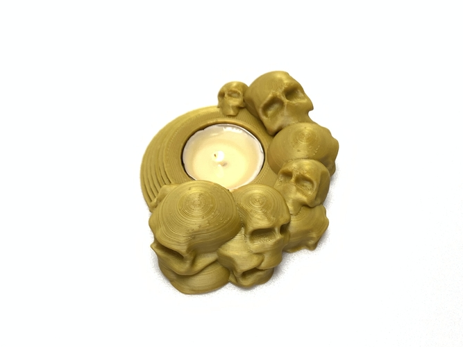 Skull tealight holder  3D Print 257050