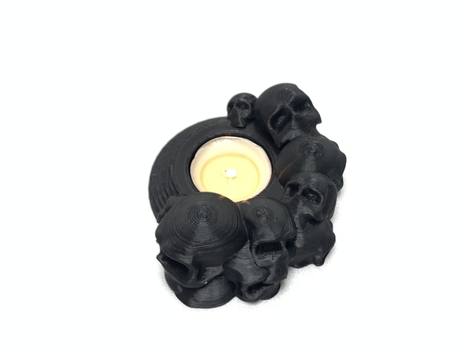 Skull tealight holder  3D Print 257051