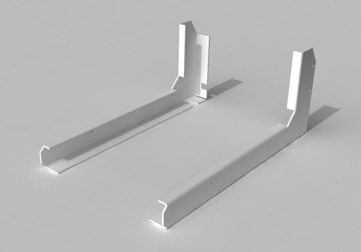 Z-Stage arm support brackets for Makerbot Replicator 1,2 & 2X 3D Print 25708