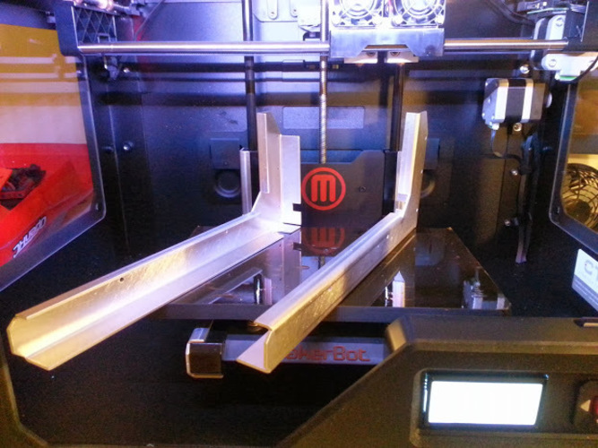 Z-Stage arm support brackets for Makerbot Replicator 1,2 & 2X 3D Print 25711