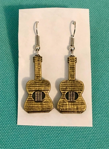 Guitar Earrings & Necklace - (Production samples included) 3D Print 257140