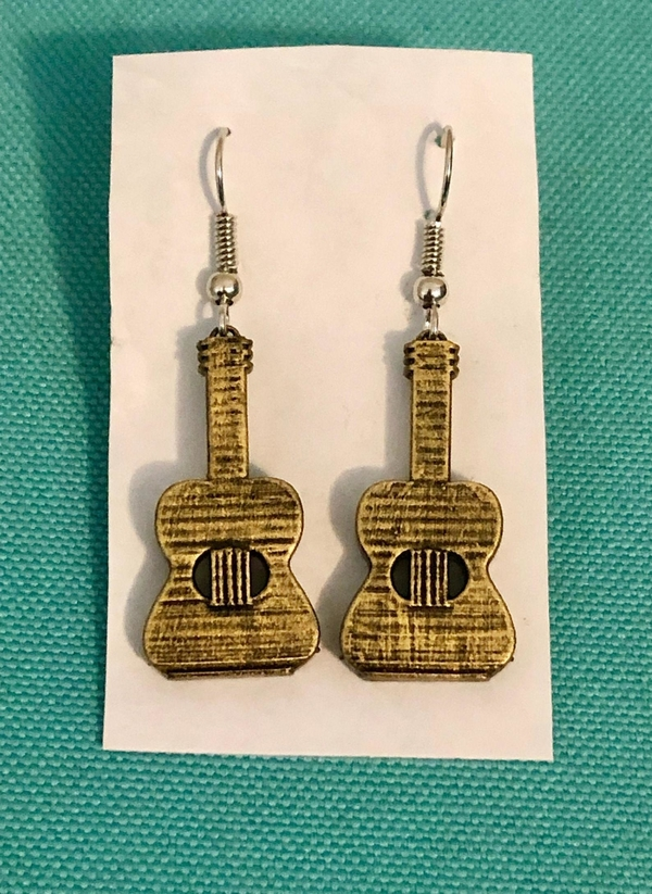 Medium Guitar Earrings & Necklace - (Production samples included) 3D Printing 257140