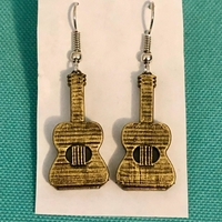 Small Guitar Earrings & Necklace - (Production samples included) 3D Printing 257140