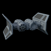 Small TIE Shuttle - X-wing miniatures compatible 3D Printing 257144