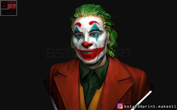 Medium ​Joker Bust -from Joker movie 2019 3D Printing 257241