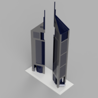 Small Emirates Towers 3D Printing 257390