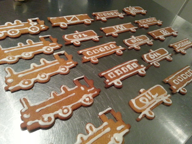 Train Set (Cookie Cutters) 3D Print 25740