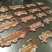 Small Train Set (Cookie Cutters) 3D Printing 25740