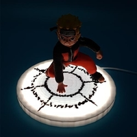 Small Naruto Summoning Jetsu Led Lamp 3D Printing 257443