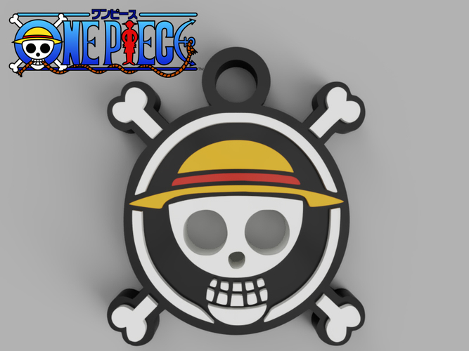 One Piece Pendant 3D Print 257479