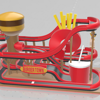 Small BURGER TOWN - Tiny Town Racing (Track 02) Donations appreciated 3D Printing 257495