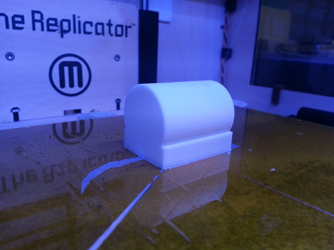 3Dprint a near perfect cylinder lying down 3D Print 25769
