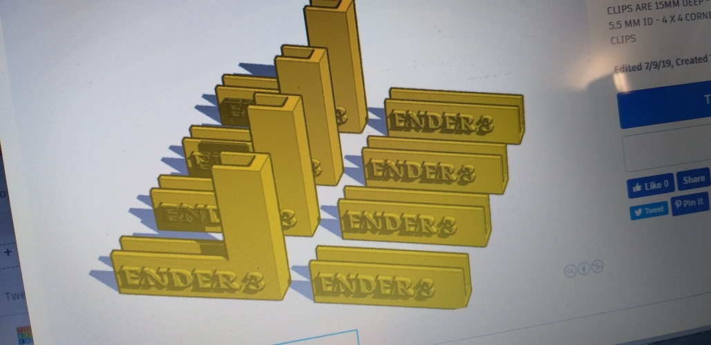 3d printing glass bed clips 3D Print 257709