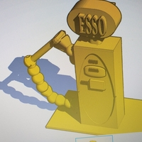 Small Vintage Esso fuel bowser  3D Printing 257710