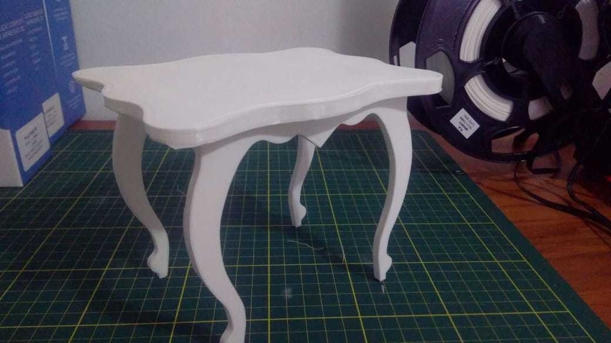 Small Dolls Table 3D Print 257735