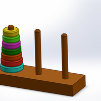 Small Hanoi Tower 3D Printing 257756