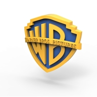 Small 3D printable Warner Bros. Pictures logo 3D Printing 257798