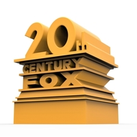 Small 3D printable  20th Century Fox logo 3D Printing 257858