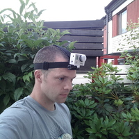 Small GoPro Head Strap Mount 3D Printing 25789