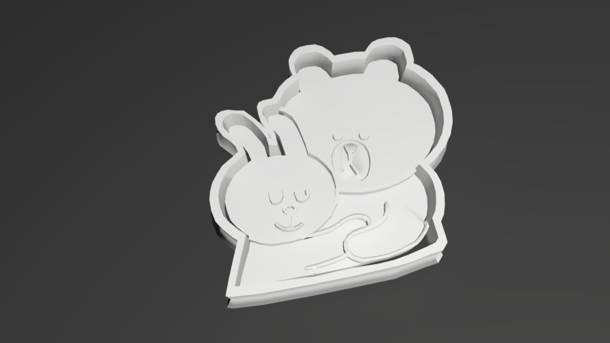 Cony & Brown cookie cutter 3D Print 257911
